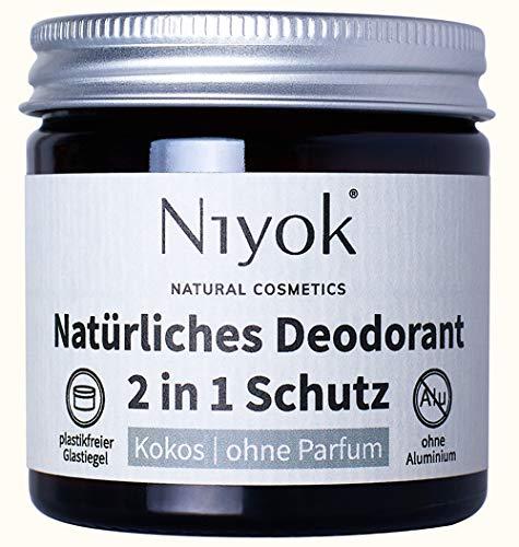 Niyok® 2 in 1 Deo ohne Aluminium Antitranspirant Deocreme Deodorant Creme | Damen | Herren gegen...
