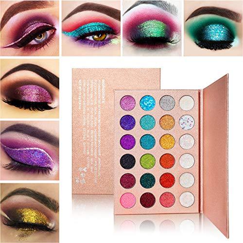 Lidschatten Palette Glitzer Schminke,Afflano Eyeshadow Palette Glitter Make-up,Liedschattenpalette...