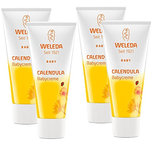 Weleda Calendula-Babycreme, 4er Pack (4 x 75 ml)