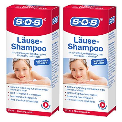 SOS Läuse-Shampoo, zuverlässige Befreiung von Kopfläusen und Nissen, besonders hautverträgliches...